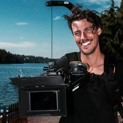 David Nilsson med kamera